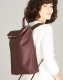 Klatta by Offermann Foldtop Backpack maroon brown