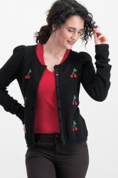 Blutsgeschwister Cardigan lucky cherry night cherry