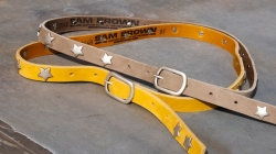 Cowboysbelt Sterngürtel yellow Gürtel 209039 Sam Brown