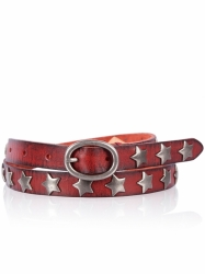 Cowboysbelt Sterngürtel red Gürtel 209039 Sam Brown