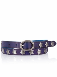 Cowboysbelt Sterngürtel Royal Blue Gürtel 209039 Sam Brown
