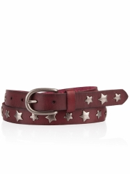 Cowboysbelt Sterngürtel bordo Gürtel 259012 Sam Brown