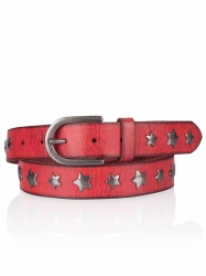 Cowboysbelt Sterngürtel red Gürtel Sam Brown 309025