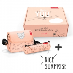 Reisenthel surprise box Geschenkbox kids cats and dogs rosa