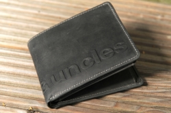 aunts and uncles Matt Hunter wallet vintage grey