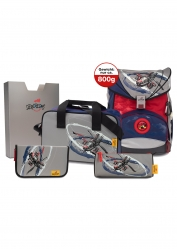 DerDieDas ErgoFlex LED Air Speed Exklusiv Schulrucksack Set 5 teilig
