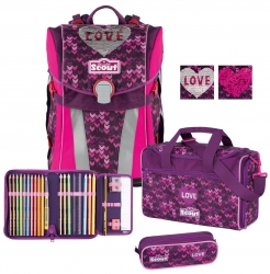 Scout Premium Sunny Limited Edition Glitter Heart Set 4 tlg