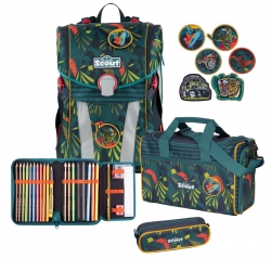 Scout Schulranzen Sunny Exklusiv Stickys Jungle 4 teiliges Set