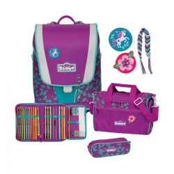 Scout Ultra Schulranzen Lilac Leaves 4tlg. Set