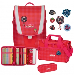 Scout Ultra Schulranzen 4tlg. Set Red Gingham