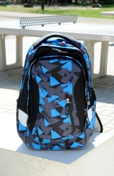 Satch Sleek Rucksack Blue Triangle