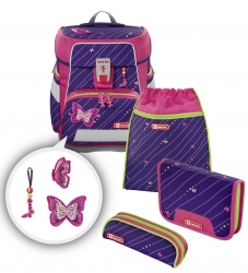 Step by Step Space Schulranzen-Set Shiny Butterfly 5-teilig