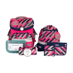 School Mood Timeless Air+ Yuna Neon Pink Schulranzen Set 7tlg.