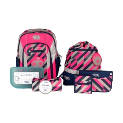 School Mood Loop Air+ Yuna Neon Pink Schulranzen Set 7tlg.