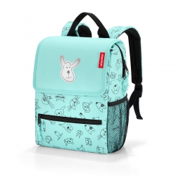 Reisenthel backpack Rucksack cats and dogs mint