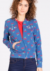 Blutsgeschwister Jacke hit machine blouson young cherry Zipperjacke