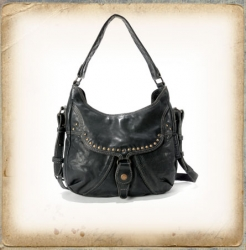 aunts and uncles Blueberry Chunk grey black Shoulder Bag M