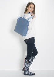 Blutsgeschwister kötbullar shopper faded denim