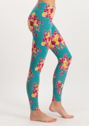 Blutsgeschwiste leggings ladylaune legs super retro bouquet
