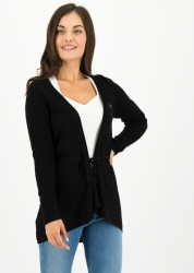 Blutsgeschwister Cardigan light hearted envelope cardy black cosy
