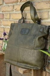 aunts and uncles Camomile olive grey Shopper L