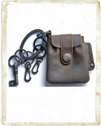 aunts and uncles Keyrings Emily Pouch dark brown