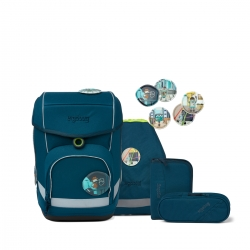Ergobag Cubo ECO HERO-Edition Schulranzen RobotBär 5-teiliges Set