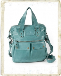 aunts and uncles Goody Shoulderbag aqua with laptop case 13 inch