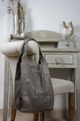 Oakwood Holly grau Beuteltasche Ledertasche Shopping-Bag