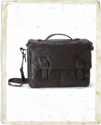 aunts and uncles Karl Aktentasche XL quer dark brown