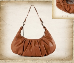 aunts and uncles Lisa Schultertasche cognac
