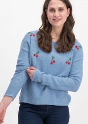 Blutsgeschwister Pullover ma cherie blue cherry
