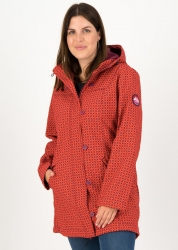 Blutsgeschwister Mantel wild weather long anorak red stars