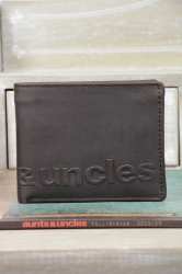 aunts and uncles Matt Hunter Scheintasche vintage Brown Logo