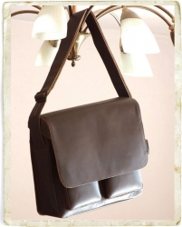 aunts and uncles Nick vintage brown Postbag L mit Laptopfach