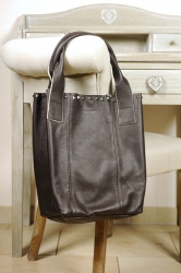 Oakwood Smaller BI mocca Beuteltasche Ledertasche Shopping-Bag