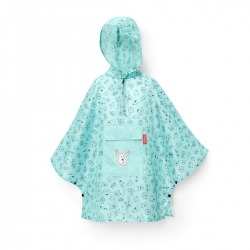 reisenthel kids mini maxi poncho cats and dogs mint Regencape