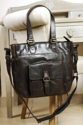 aunts and uncles Rick dark brown Shopper mit Laptopfach