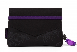 Satch Beauty Wallet Clutch Kosmetiktasche Klatsch Purple Hibiscus