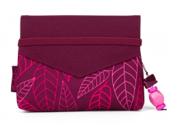 Satch Beauty Wallet Clutch Kosmetiktasche Klatsch Purple Leaves
