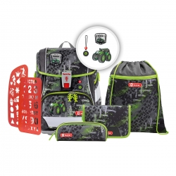 Step by Step 2IN1 Plus Schulranzen-Set Green Tractor 6-teilig Modell 2020
