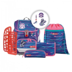 Step by Step 2IN1 Plus Schulranzen-Set Shiny Dolphins 6-teilig Modell 2020