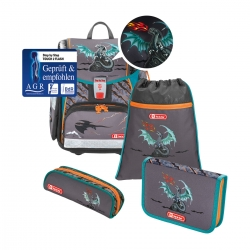 Step by Step Touch 2 Flash Schulranzen-Set Fire Dragon 4-teilig