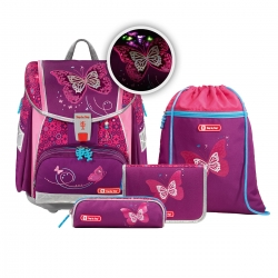 Step by Step Touch 2 Flash Schulranzen-Set Shiny Butterfly 4-teilig