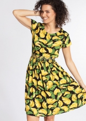 Blutsgeschwister Kleid senhorita frida folk dress bold banana