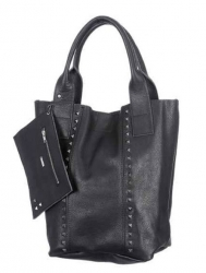 Oakwood Smaller 5 black Beuteltasche Ledertasche Shopping-Bag