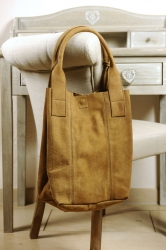 Oakwood Beuteltasche Ledertasche Shopping-Bag Smaller4 sand