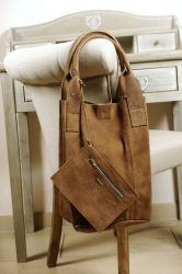 Oakwood Beuteltasche Ledertasche Shopping-Bag Smaller 4 natur