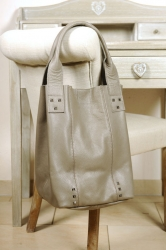 Oakwood Smaller 5 grau Beuteltasche Ledertasche Shopping-Bag