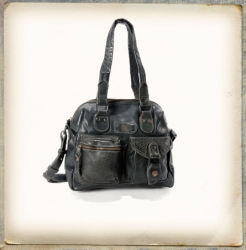 aunts and uncles Strawberry Fudge grey black Shoulder Bag M